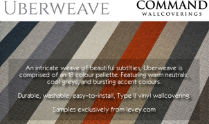 Uberweave Wallcovering from Levey Wallcoverings and Architectural Finishes