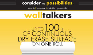 Walltalkers Dry Erase Wallcovering, Levey Wallcoverings and Architectural Finishes