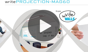 Write Projection MAG-60, Dry Erase and Magnetic Wallcovering from LEVEY