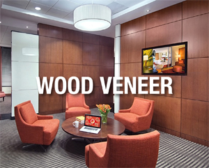 SanFoot Wood Veneer Wallcovering, Levey Wallcoverings
