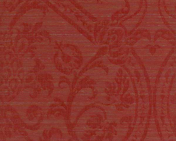 Red Wallcovering, Ambrosia Damask Commercial Vinyl Wallcovering from Levey