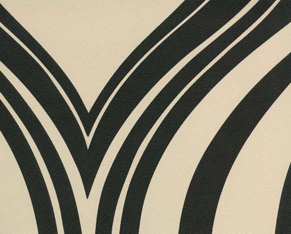 Cream and Black Wallcovering, Cabana Commercial Vinyl Wallcovering from Levey