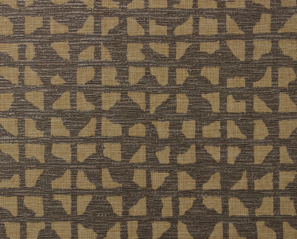 Brown Wallcovering, Grid Iron Commercial Vinyl Wallcovering from Levey