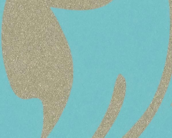 Blue and Gold Wallcovering, Matisse Commercial Vinyl Wallcovering from Levey