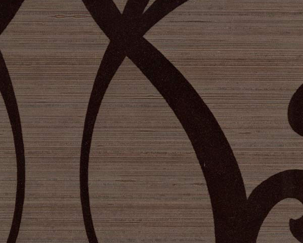 Black Wallcovering, Nouveau Flock Commercial Vinyl Wallcovering from Levey