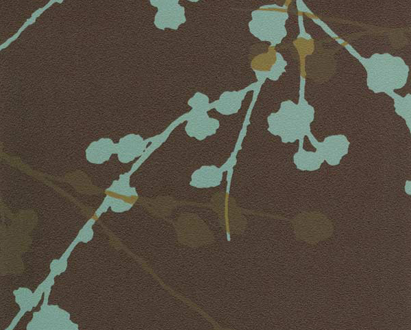 Brown and Blue Wallcovering, Rivage Commercial Vinyl Wallcovering from Levey