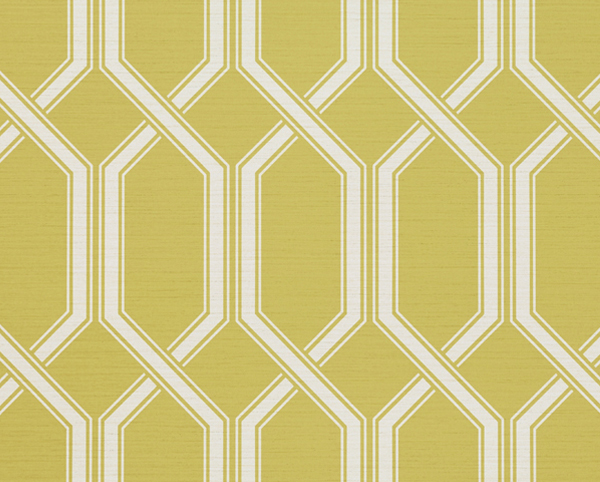 Yellow Wallcovering, Shima Trellis Commercial Vinyl Wallcovering from Levey