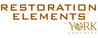 Restioration Elements Wallcovering logo, Levey Wallcoverings and Architectural Finishes