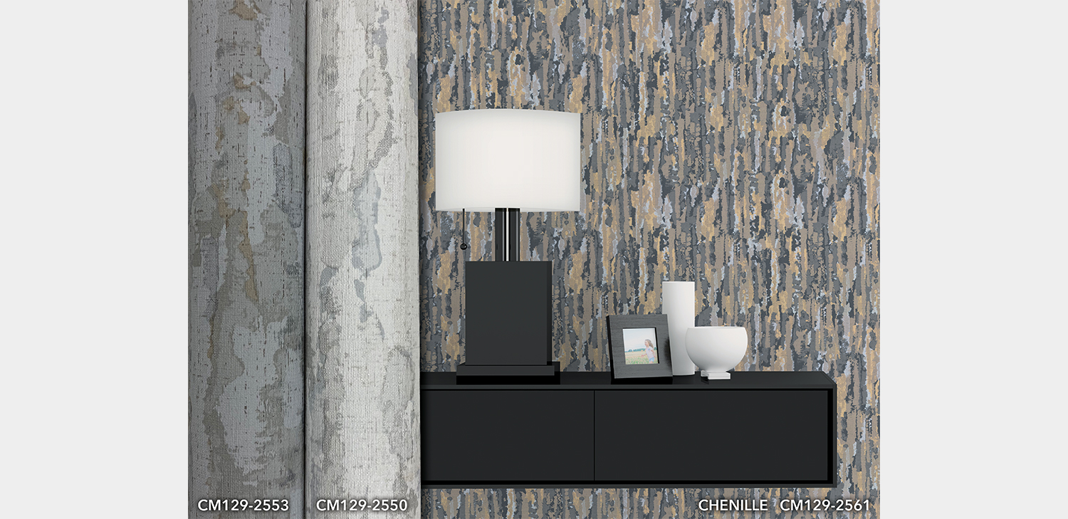 Chenille Wallcovering from LEVEY Commercial and Architectural Finishes