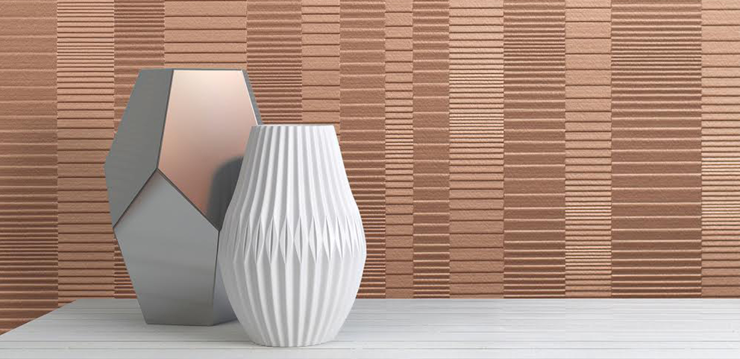 Louver Wallcovering from LEVEY Commercial and Architectural Finishes