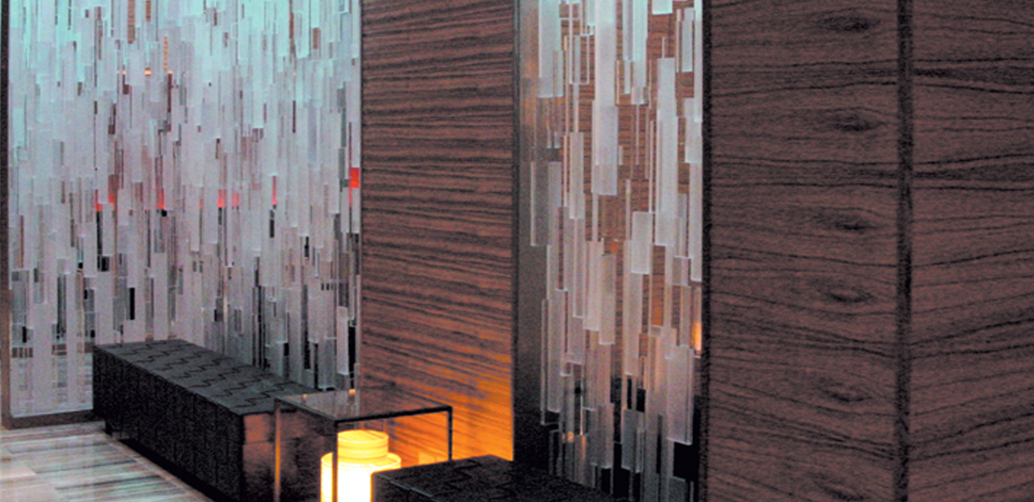 SanFoot Wood Veneer Wallcovering from  LEVEY Commercial and Architectural Finishes