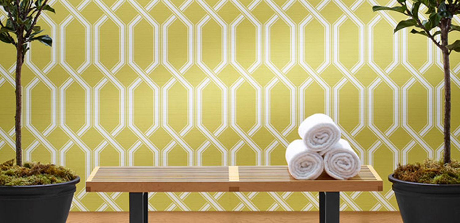 Shima Trellis Wallcovering from LEVEY Commercial and Architectural Finishes