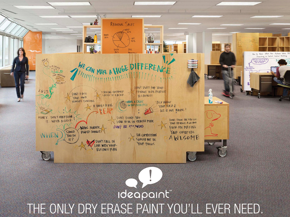 ideapaint dry erase