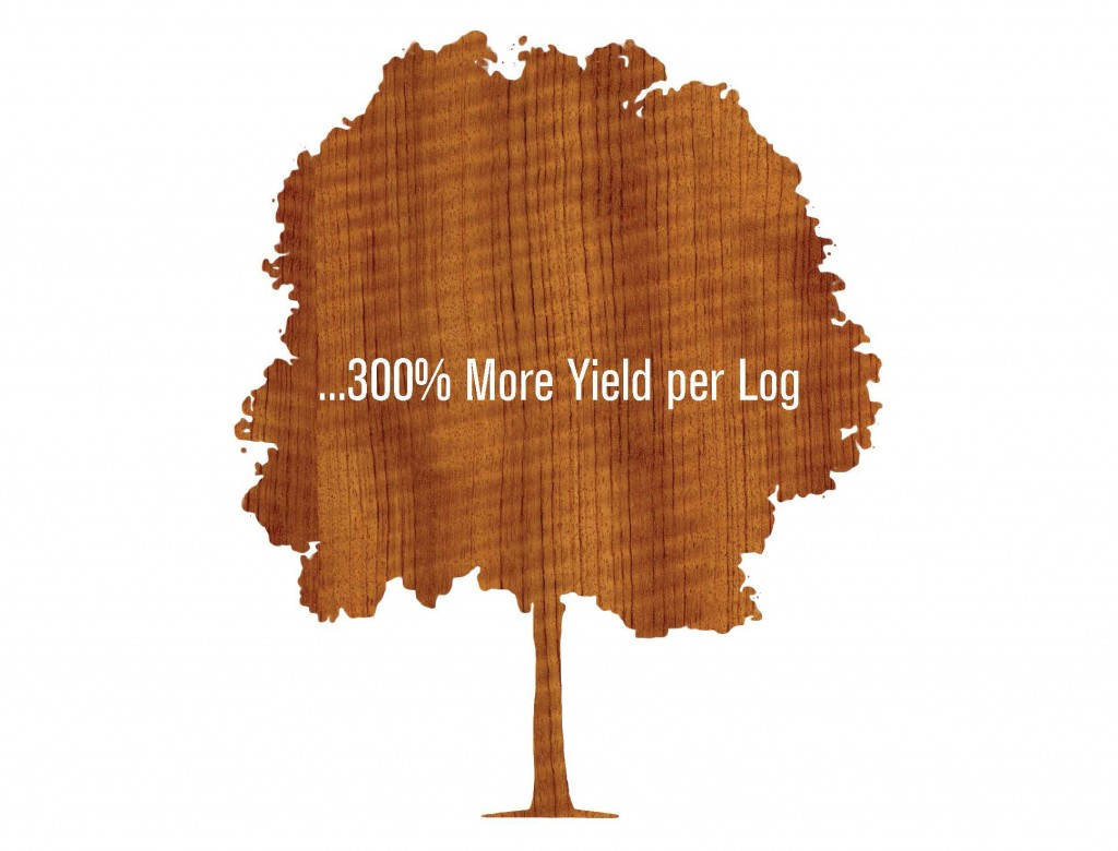 SanFoot Wood Veneer Wallcoverings 300 Percent More Yield Per Log