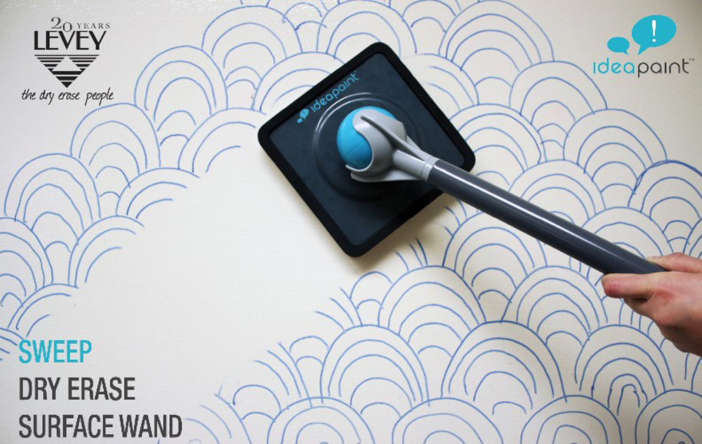 ideapaint dry erase sweep surface wand