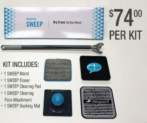 ideapaint dry erase sweep surface wand kit