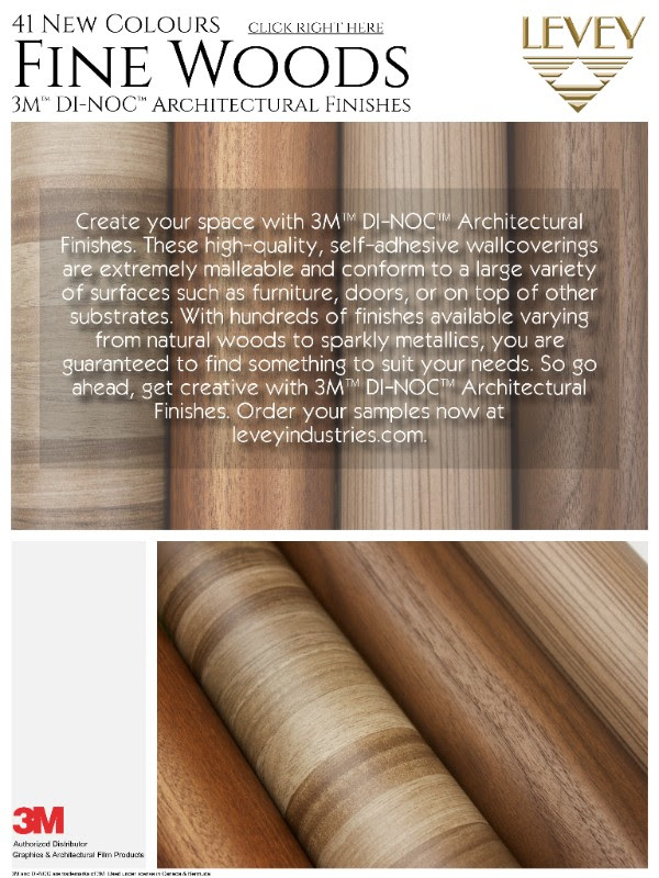 3M New Colours of DI-NOC Fine Woods Levey Industries