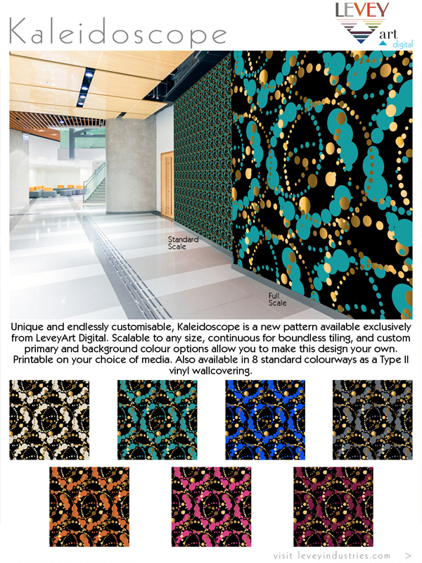 Kaleidoscope Wallcovering, Custom Digital Wallcovering from LeveyArt