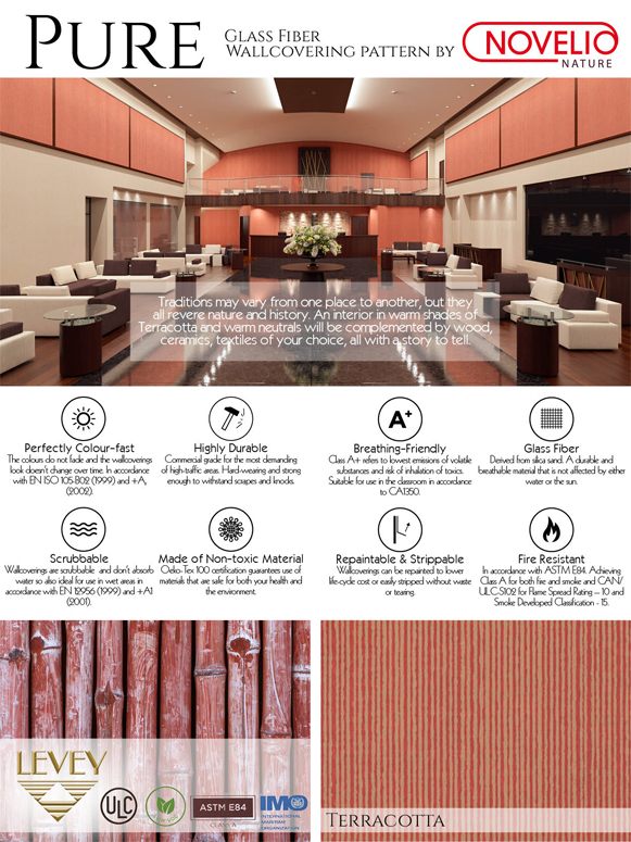 Pure Wallcovering, Novelio Nature Commercial Wallcovering from Levey