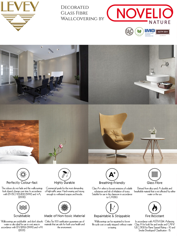 Novelio Nature Glass Fiber Wallcovering by Levey Wallcovering and Architectural Finishes