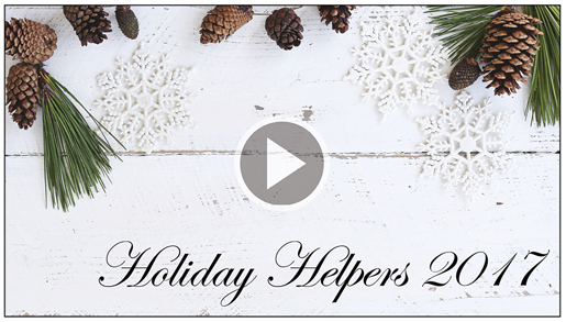 Holiday Helpers Video 2017 from Levey Wallcoverings and Architectural Finishes width=