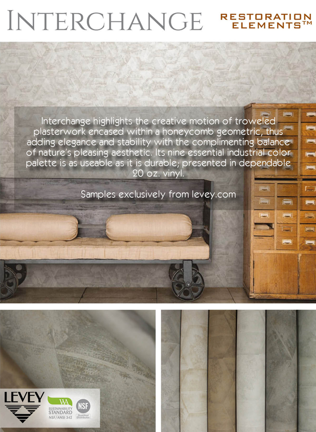 Interchange Wallcovering from Levey Wallcoverings and Architectural Finishes