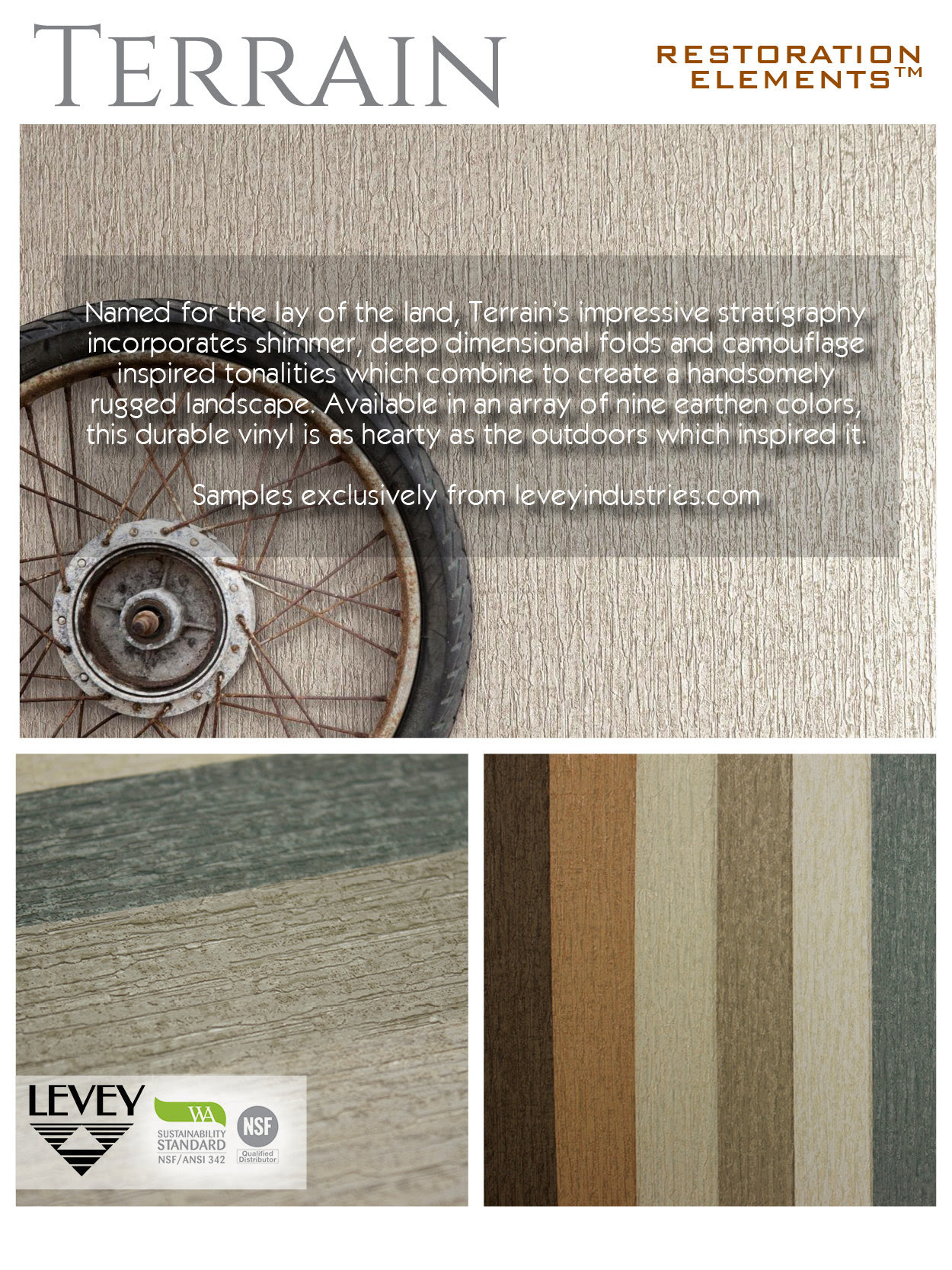Terrain Wallcovering from Levey Wallcoverings and Architectural Finishes