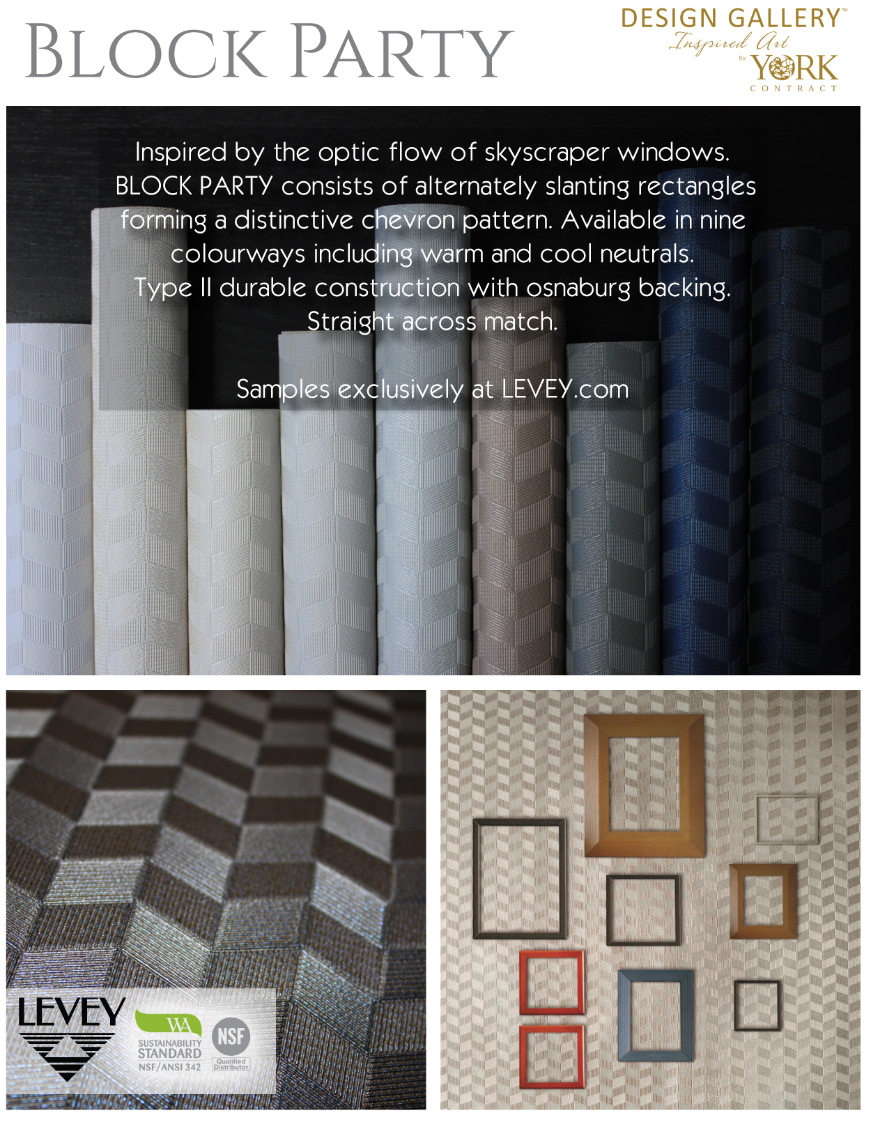 Block Party Wallcovering from Levey Wallcoverings and Architectural Finishes