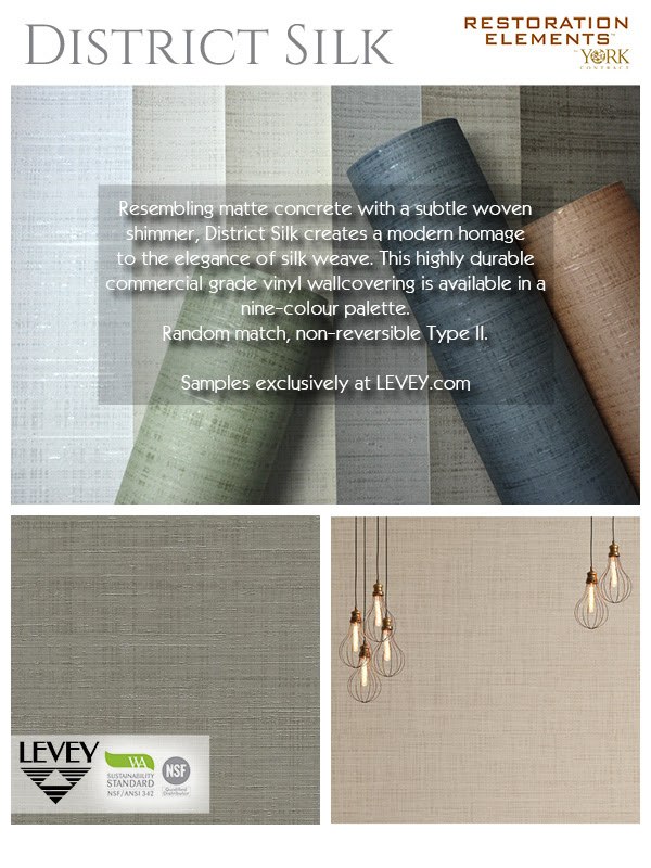 District Silk Wallcovering from Levey Wallcoverings and Architectural Finishes