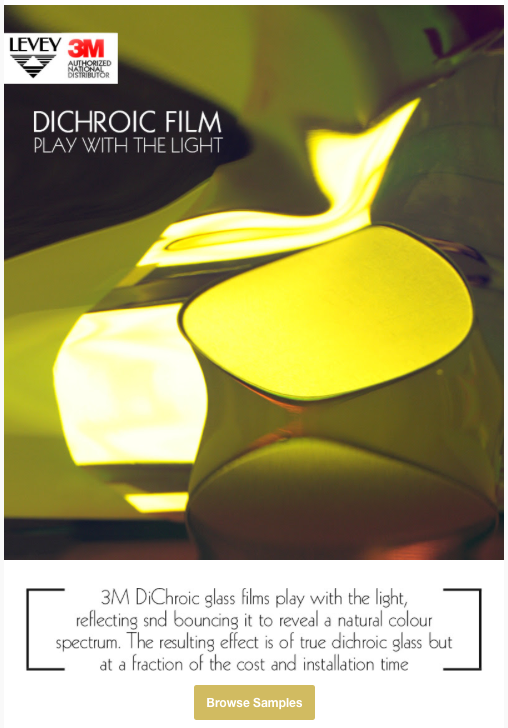 DiChroic Glass Film from Levey Wallcoverings and Architectural Finishes