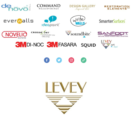 Levey Wallcoverings and Architectural Finishes Brands and Partners