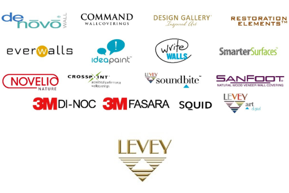 Levey Wallcoverings and Architectural Finishes, Partners and Brands