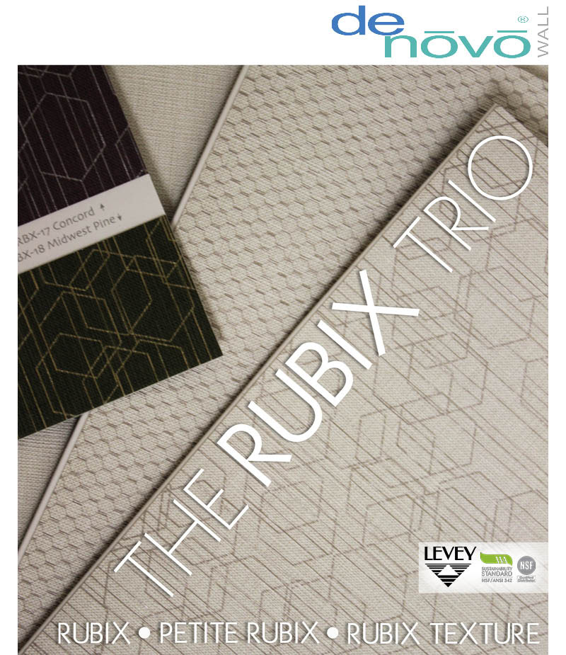 Rubix Trio Commercial Wallcovering, Levey Wallcoverings and Architectural Finishes