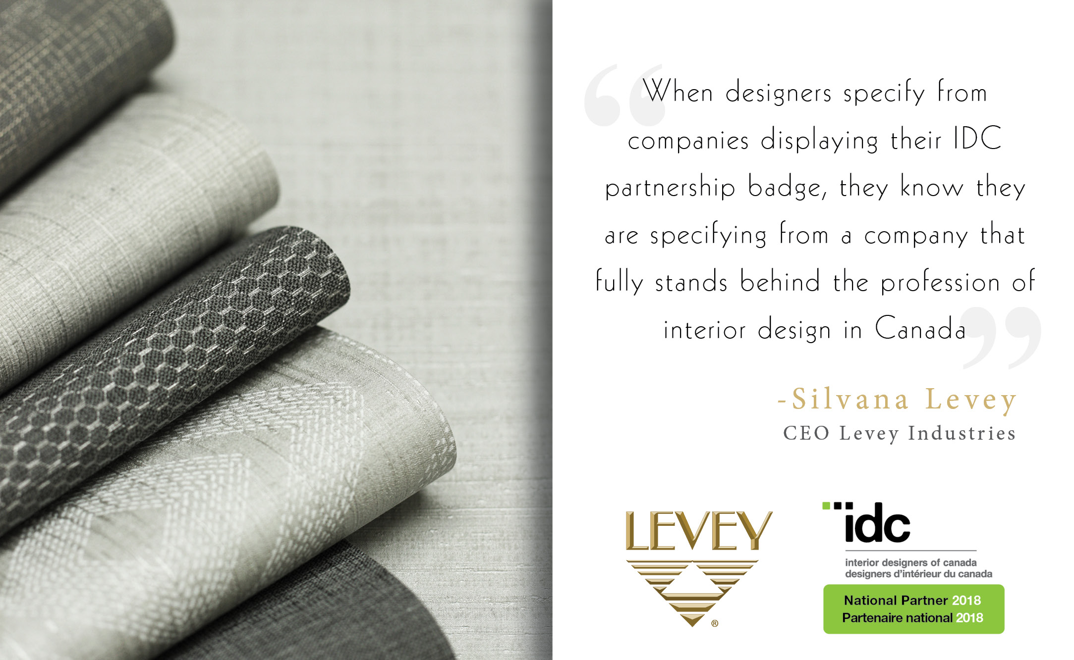 Grey Levey Wallcoverings, IDC National Partner