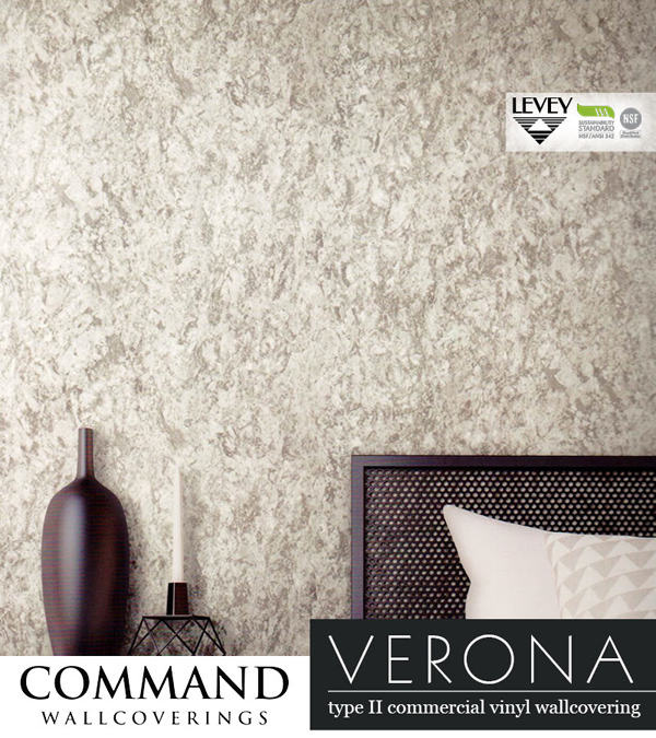 Verona Wallcovering, Vinyl Commercial Wallcovering