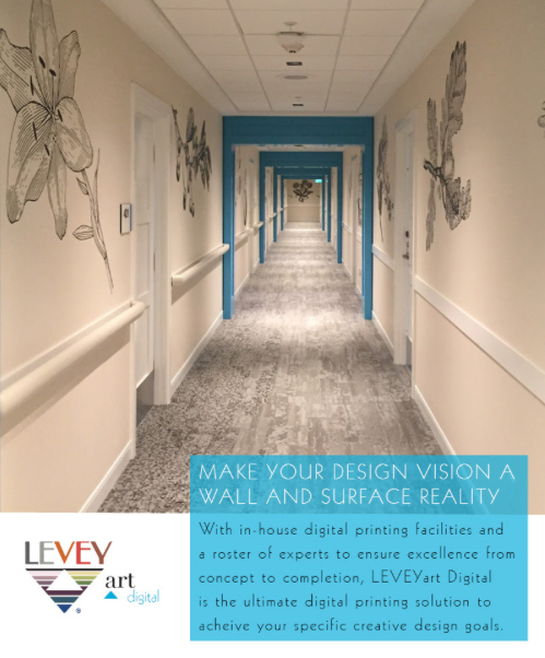 Wallcovering as Wayfinding, LEVEY Commercial and Architectural Finishes
