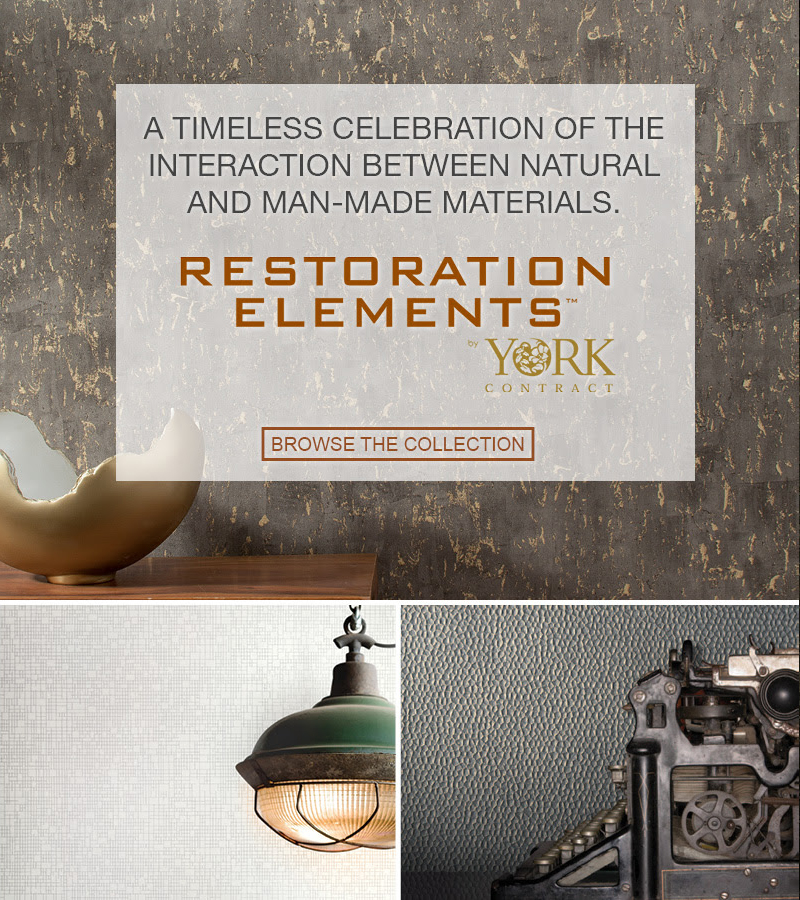 Restoration Elements Wallcoverings, from LEVEY Wallcovervings and Architectural Finishes