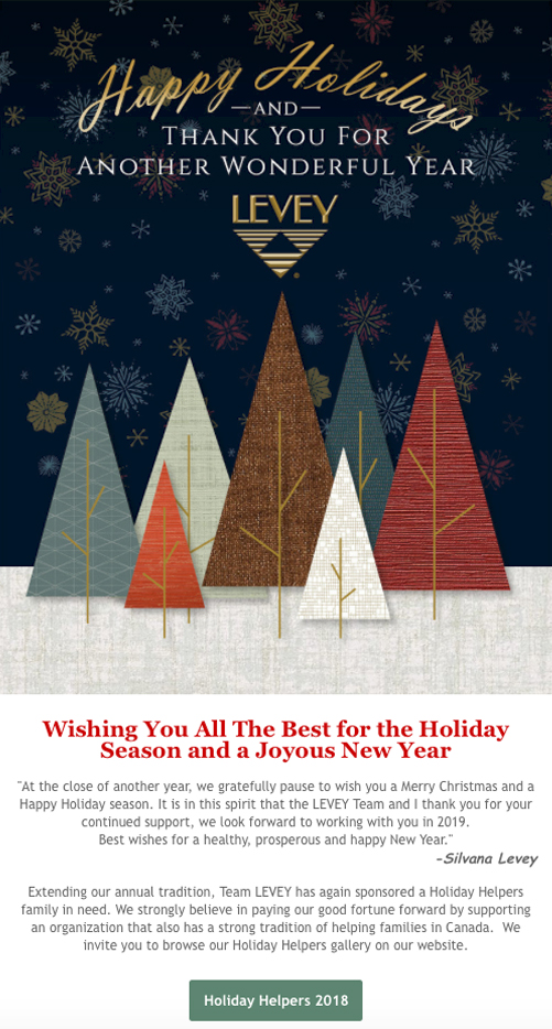 Special Wishes from Team LEVEY