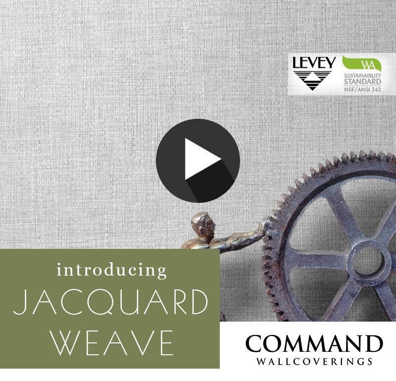 NEW! Jacquard Weave Wallcovering from Command