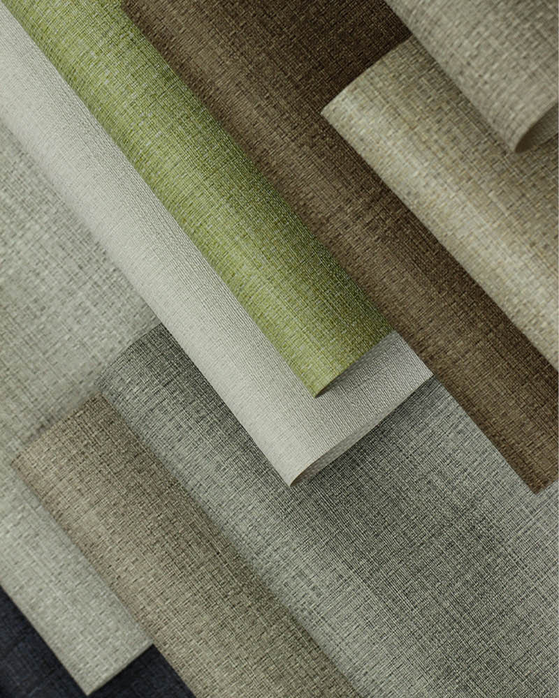 Sanbar Wallcovering, available in an expansive, matte palette of 18 colour variations