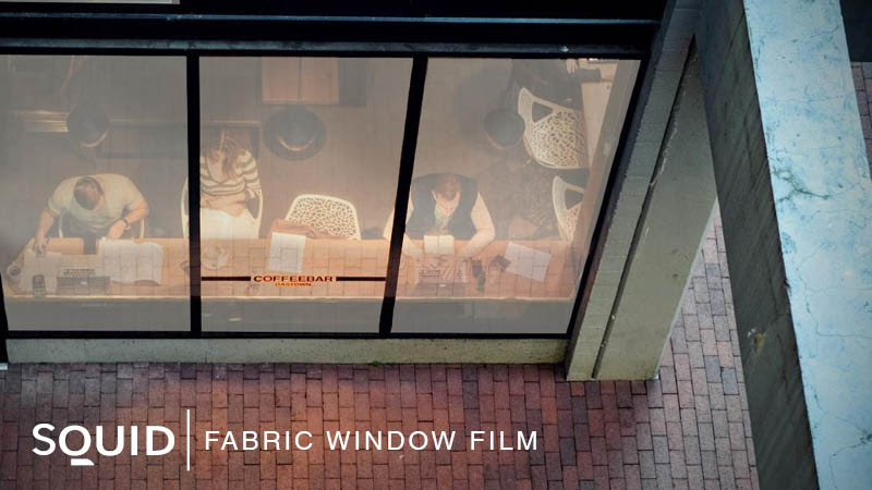 SQUID Fabric Window Film - A Warm and Tactile Glass Finish, LEVEY Commercial Wallcovering