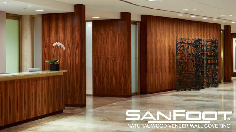SanFoot Natural Wood Veneer Wallcovering