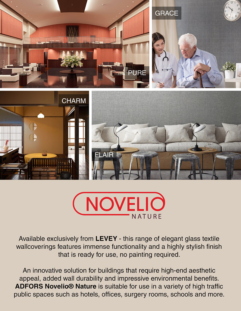 Novelio Nature Wallcoverings, LEVEY Commercial Wallcovering