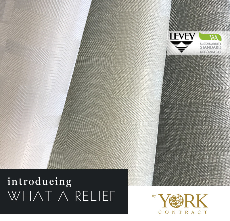 NEW! What A Relief Wallcovering From York Design Gallery