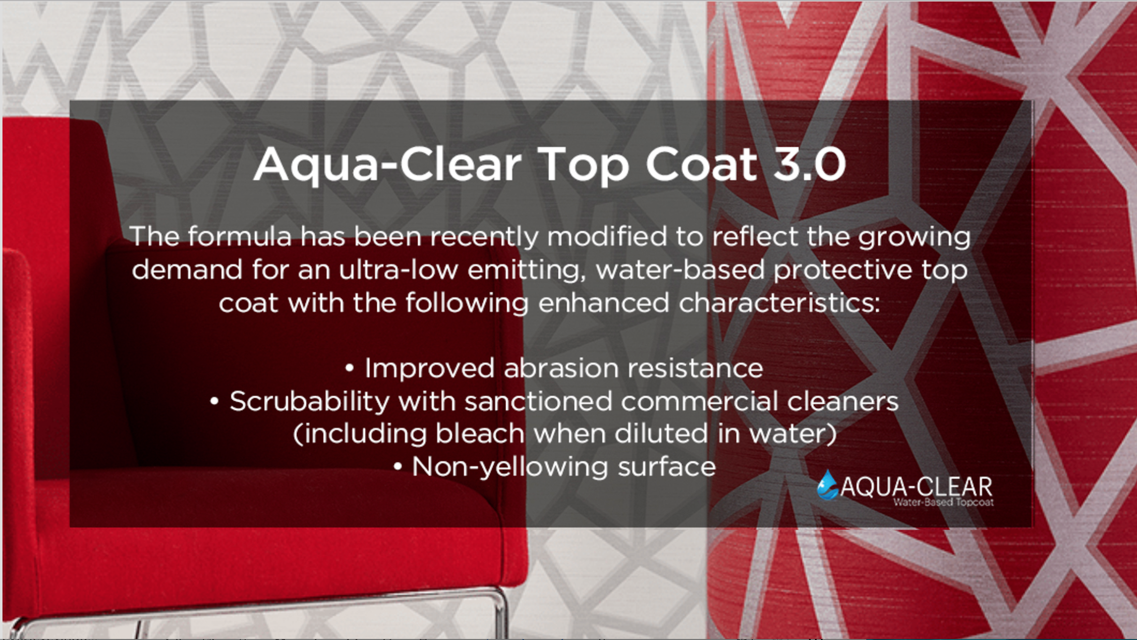 Aqua-Clear Protected Wallcoverings, Suitable for HEALTHCARE & HOSPITALITY