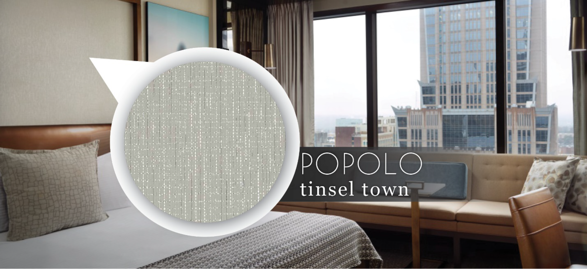Popolo Wallcovering by DeNovo Wall in colour Tinsel Town