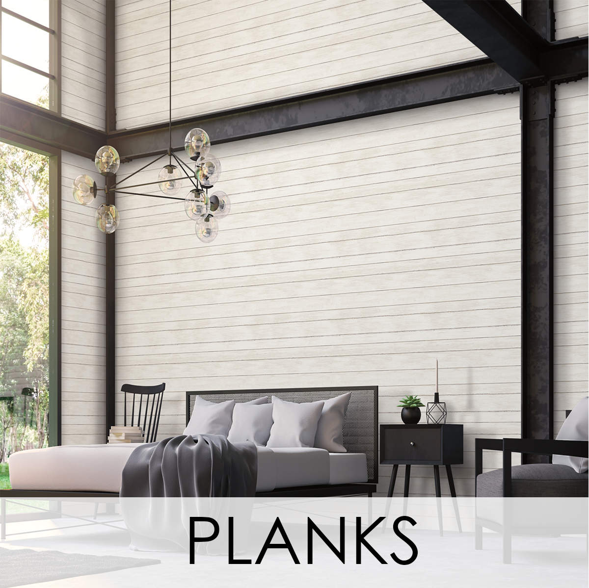 Planks Wallcovering from LEVEY