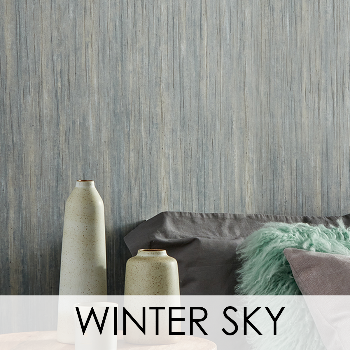 Winter Sky Wallcovering from LEVEY