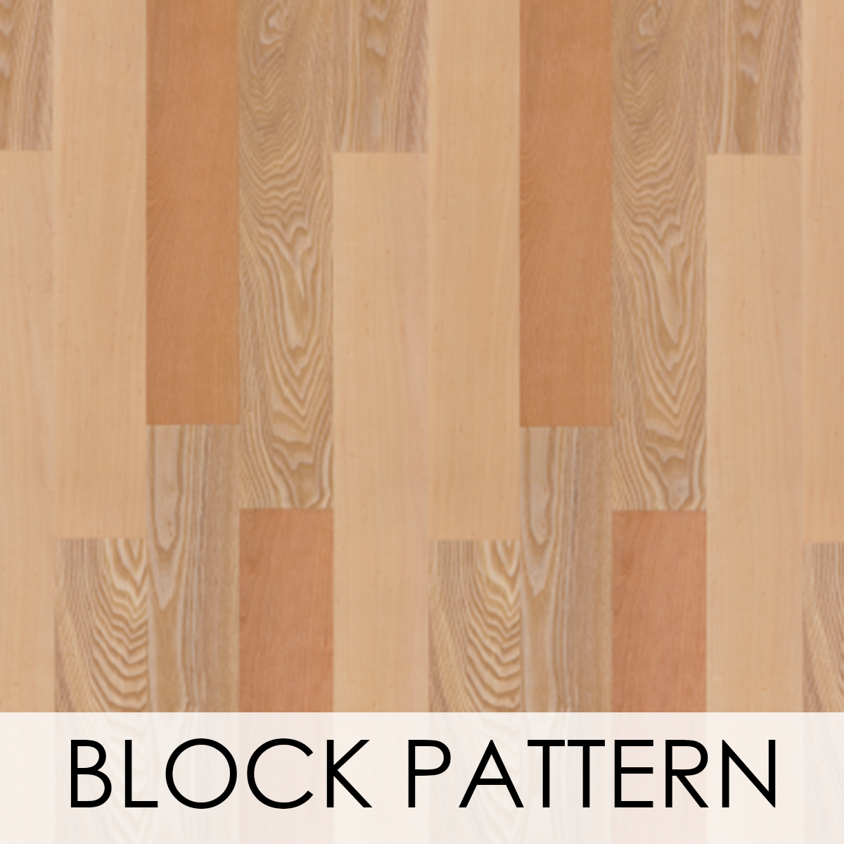 Block Pattern Wood Veneer Wallcovering
