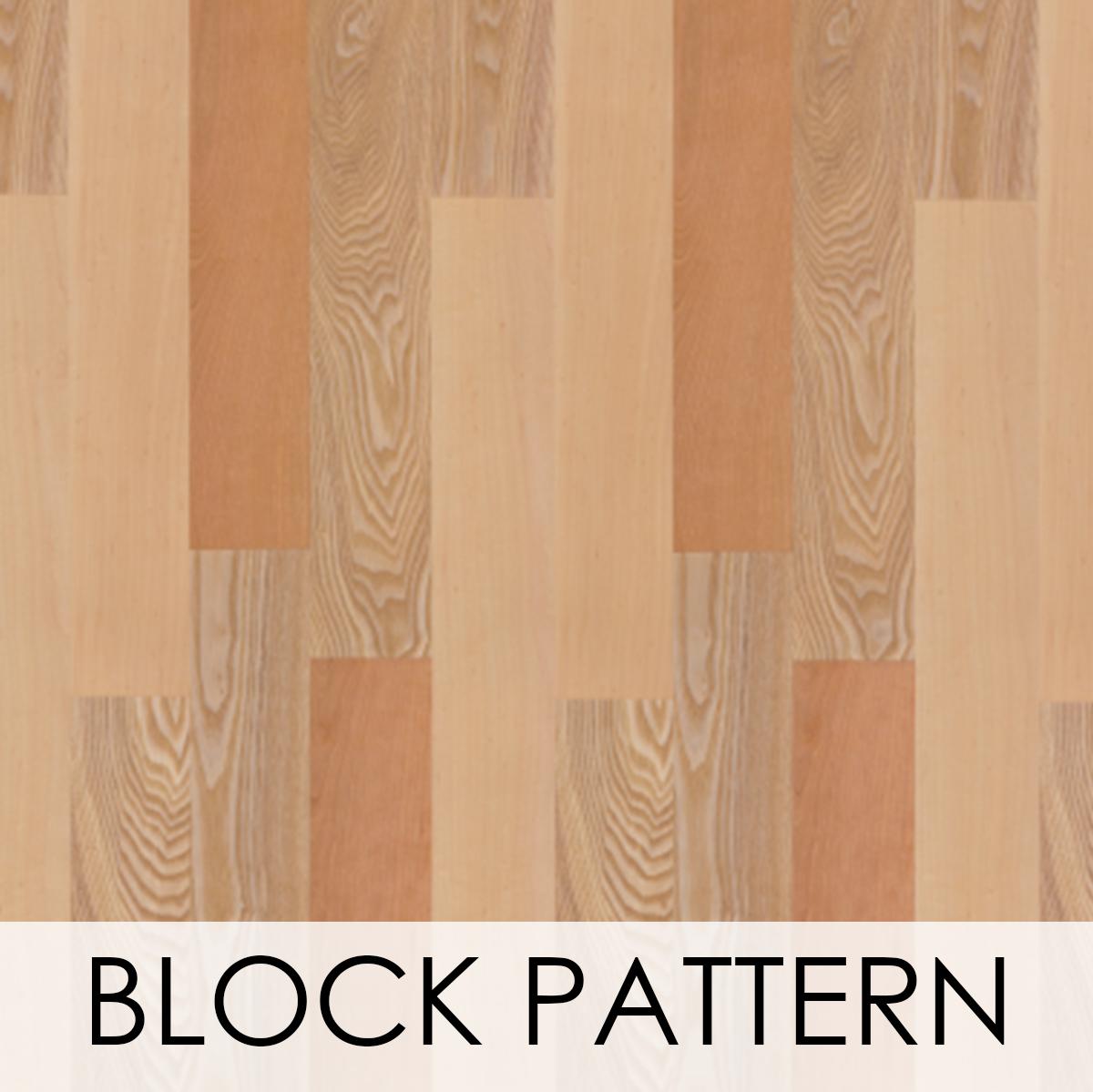 Block Pattern Wood Veneer Wallcovering
